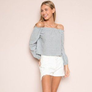 NWOT Brandy Melville THEIA Off Shoulder Top Sz S/M